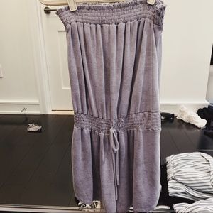 Strapless Purple/Gray Romper